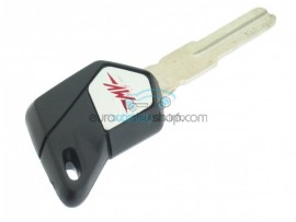 MV Agusta motorbike key - Black - groove in the middle - after market product